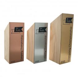 Holz Cubix Plate Award 3er Set