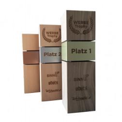 Holz Trophäe quadratisch