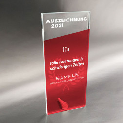 Tischaufsteller Business Award Aktion