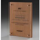 Holz - Acryl - Ehrentafel mit Druck & Gravur