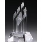 Five Crystal Award mit Lasergravur - awards.at