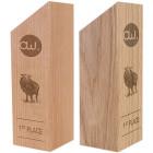 Holz Cubix Award mit Gravurbeispiel