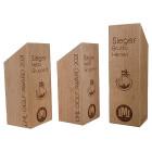 Holz Cubix Award Referenz LML Golf Award im 3er Set