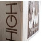 Holz Cubix Plate Award mit Gravurbeispiel auf dem Holzelement - awards.at