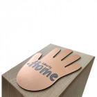 Holz Cubix Plate Award mit individuell zugeschnittener Acrylplatte auf der Oberseite - awards.at