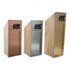 Holz Cubix Plate Award mit metallischer Acrylplatte auf der Vorderseite inkl. individueller Gravur- awards.at