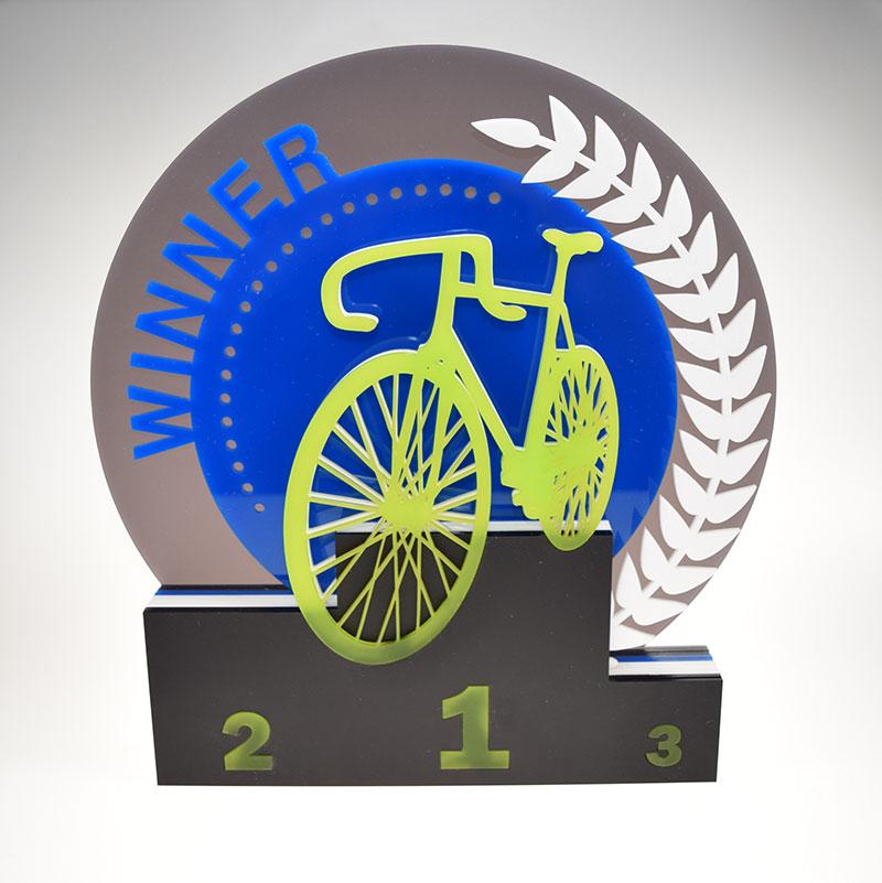 Mehrfärbiger Acryl Award individuell zugeschnitten