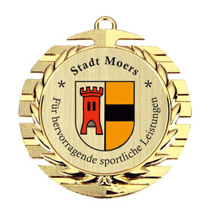 Medaille Budget - in Goldoptik